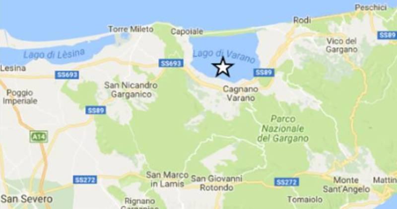 Terremoto in Puglia: scossa di magnitudo 4.0 a Cagnano Varano