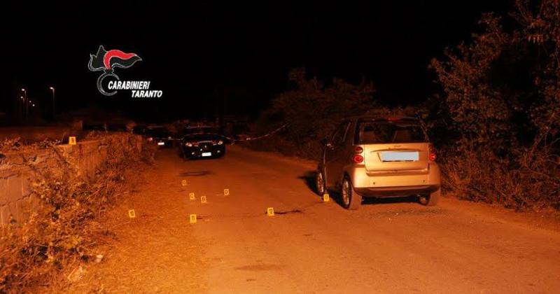 Sparatoria a Pulsano, 48enne pregiudicato ucciso nella sua auto